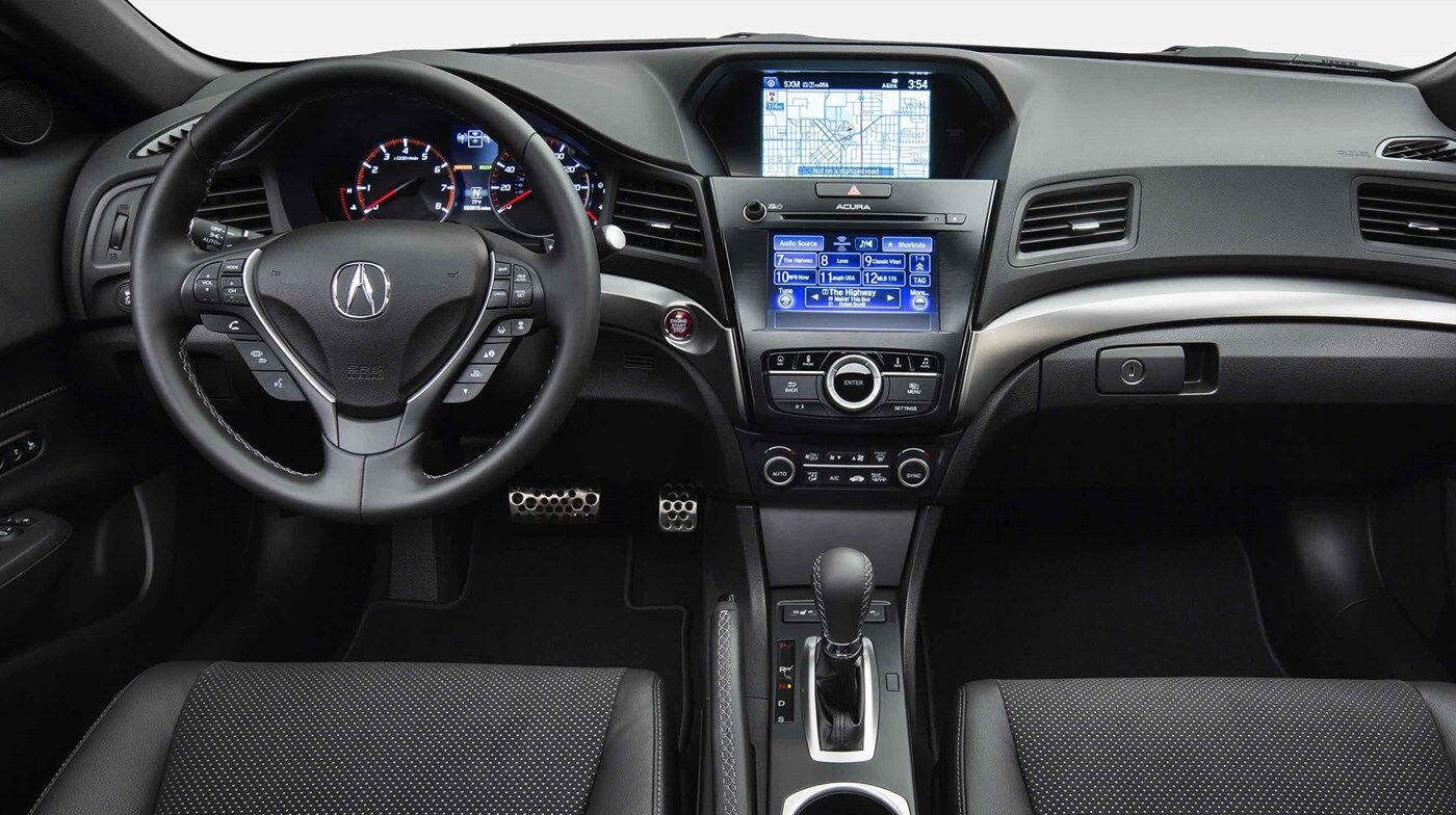 console and steering wheel of 2019 acura ilx