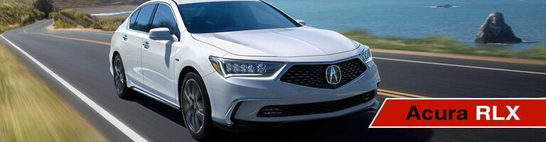 Acura RLX Driving Down Road
