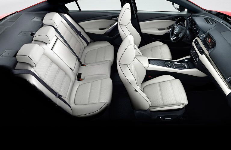 2017 Mazda6 interior top view of front and back seats