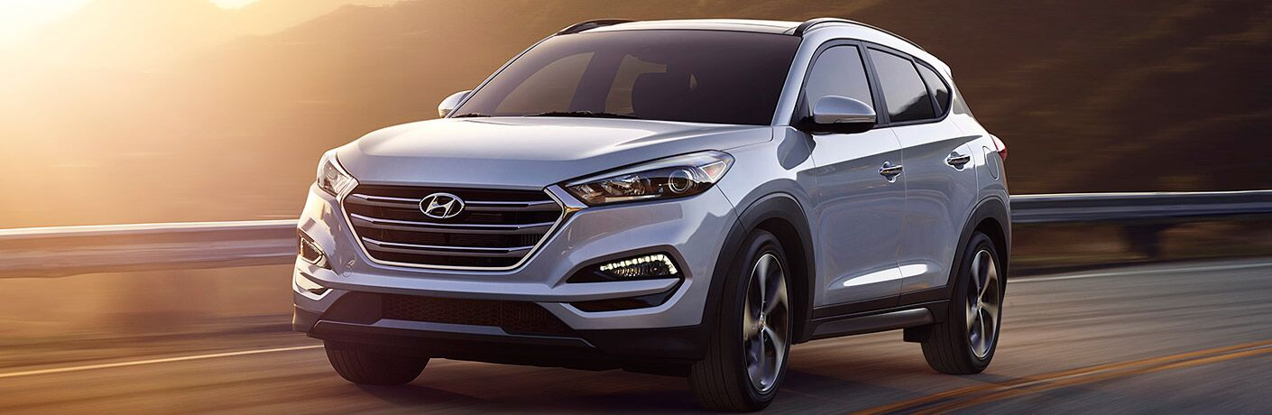 2017 Tucson driving on road at high elevation