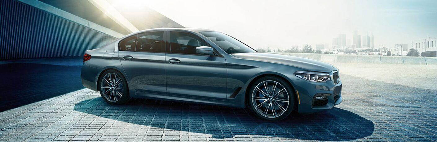 2019 BMW 5 series on a brick lot