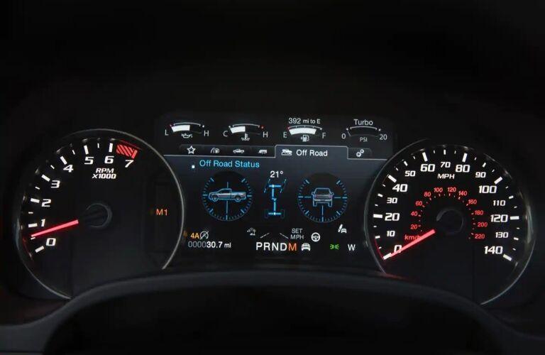 2019 Ford F-150 Raptor Instrument Panel