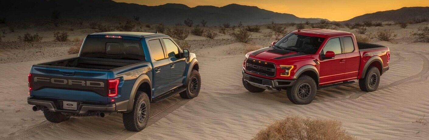 2019 Ford F-150 Raptor Trucks in Desert