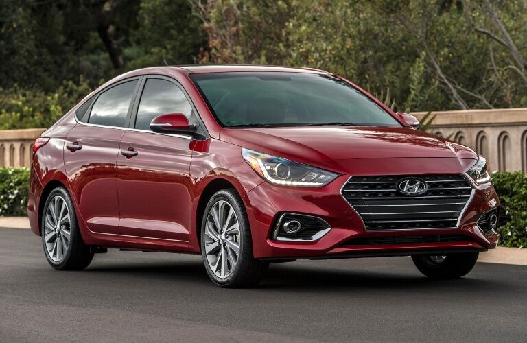 2020 Hyundai Accent Parked on Road