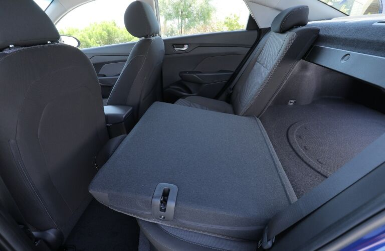 2020 Hyundai Accent Back Seat Folded Down