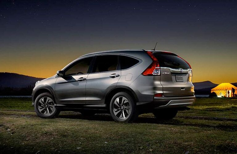 Silver 2016 Honda CR-V outdoors camping