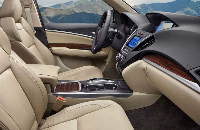 tan interior of the 2016 Acura MDX