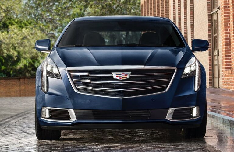 Front view of a blue 2019 Cadillac XTS