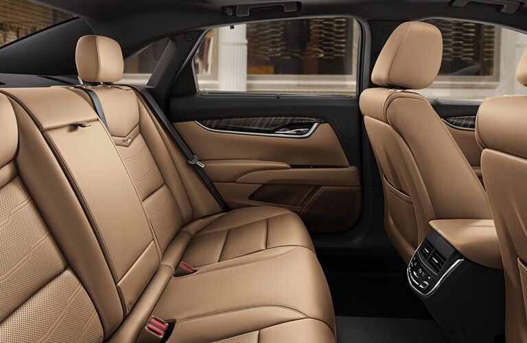 Rear seating in the 2019 Cadillac XTS