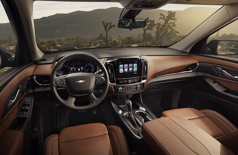 Cockpit view of the 2018 Chevy Traverse