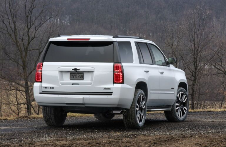 Rear view of a 2018 Chevy Tahoe