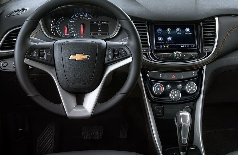 Steering wheel in the 2019 Chevy Trax