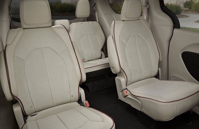 Rear seats in the 2019 Chrysler Pacifica