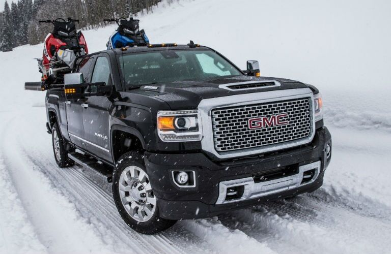 2018 GMC Sierra 2500 driving through snow