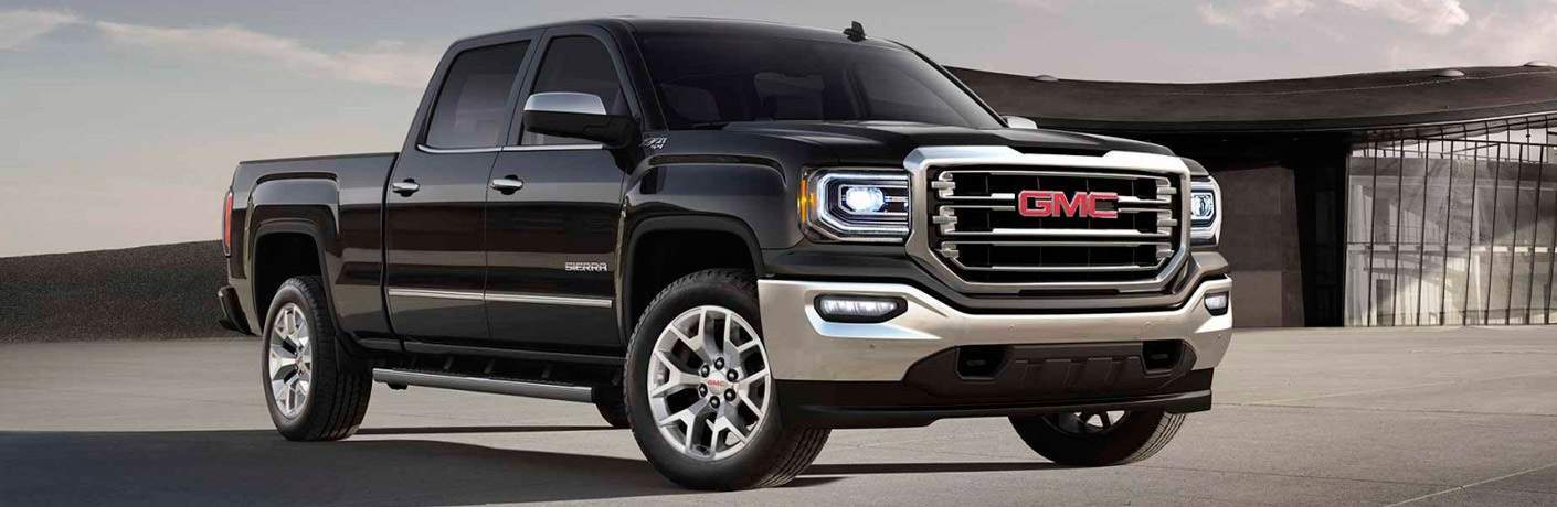 right side view of a black 2017 GMC Sierra 1500