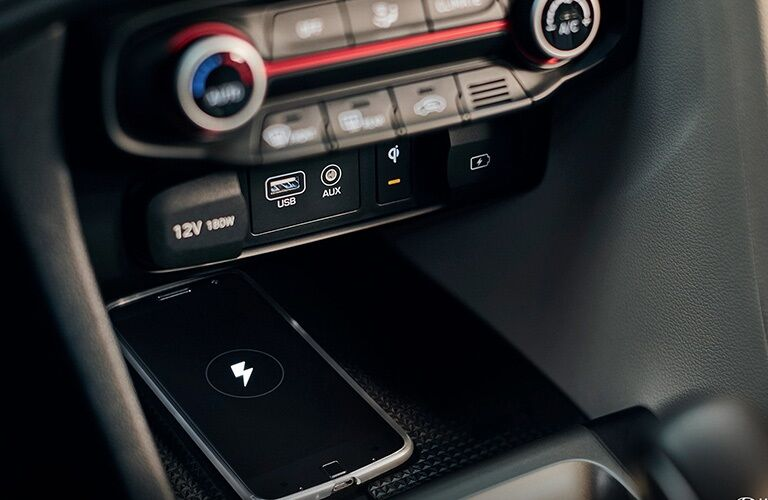 Smartphone charging in the 2019 Hyundai Veloster