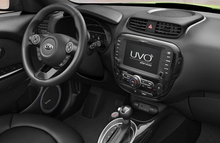 Steering wheel and dashboard of 2016 Kia Soul