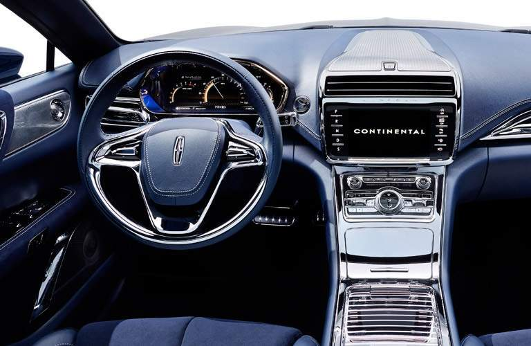Steering wheel and dashboard of 2015 Lincoln Continental