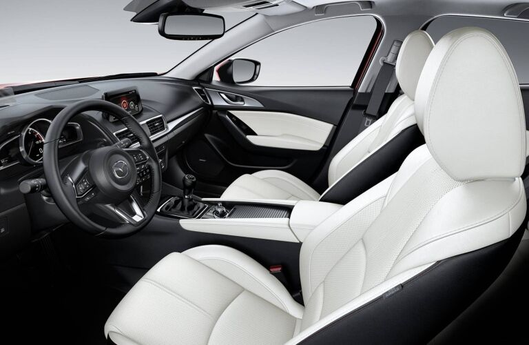 Interior seating in the 2018 Mazda Mazda3