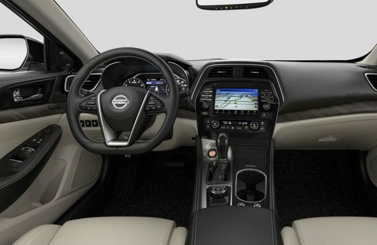 Cockpit view of the 2017 Nissan Mazima