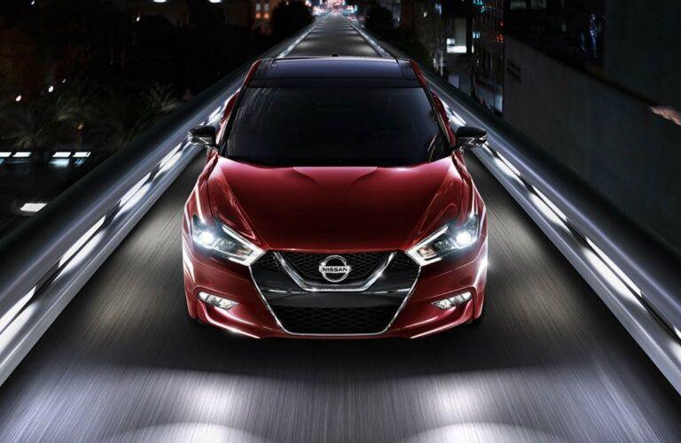 2017 Nissan Maxima driving at night