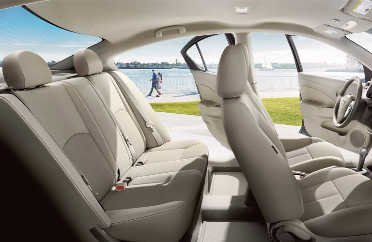 Seating in the 2016 Nissan Versa sedan