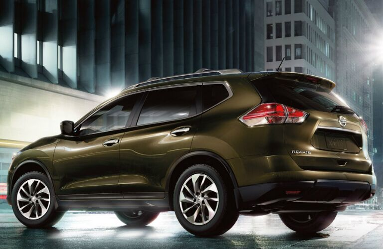 2016 Nissan Rogue in a city street