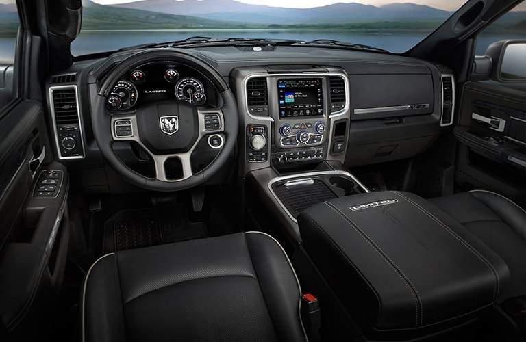 Cockpit view of a 2017 Ram 1500