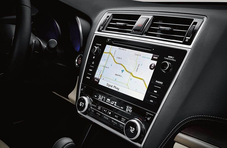 Navigation system in the 2019 Subaru Outback
