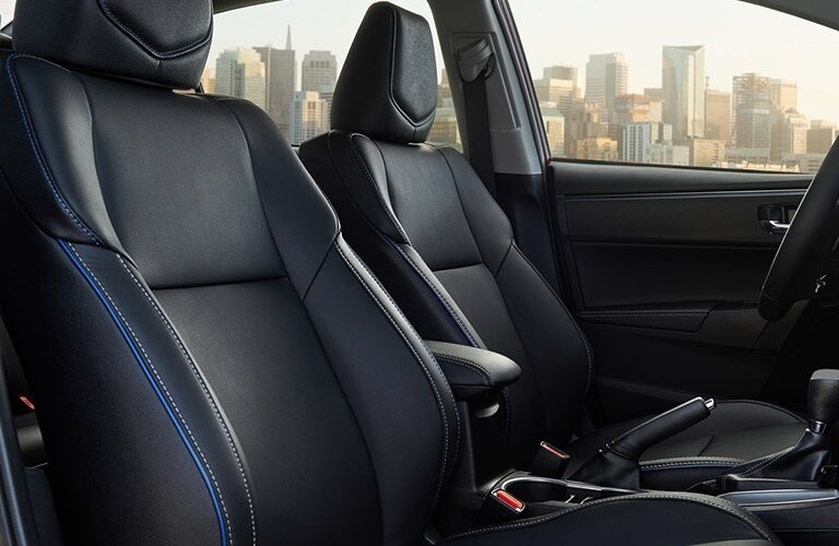 Front seats in the 2019 Toyota Corolla
