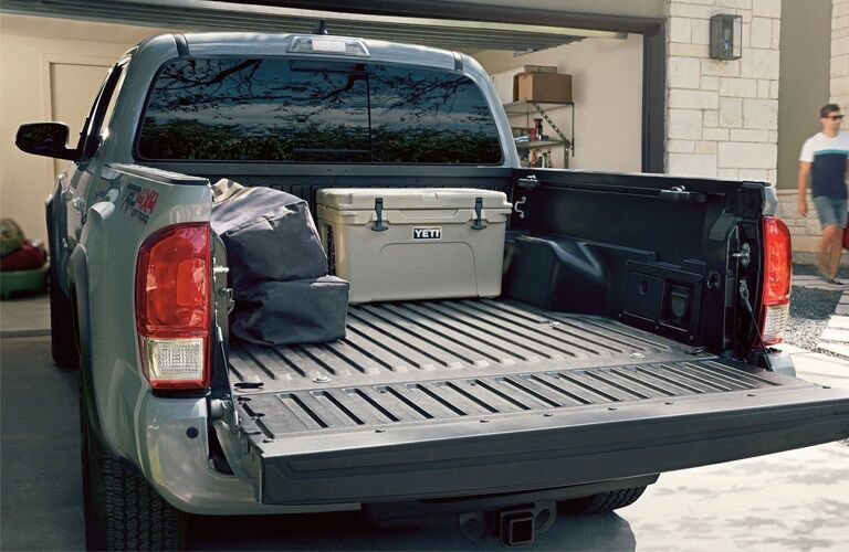 Cargo in the truck bed of the 2019 Toyota Tacoma