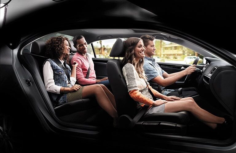 People sitting in 2016 Volkswagen Jetta