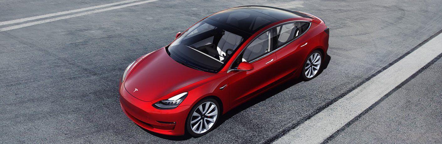 2021 Tesla Model 3 parked on asphalt