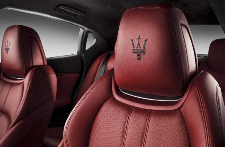 2019 Maserati Quattroporte close-up look at seats