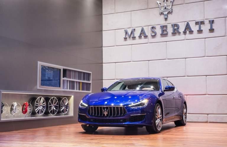 2018 Maserati Ghibli exterior in blue