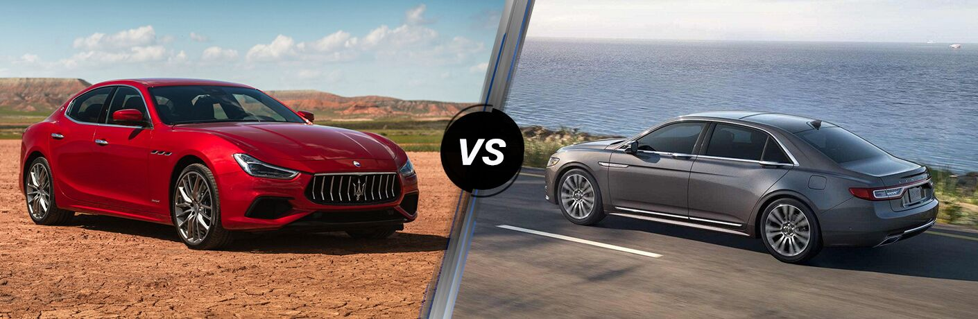 2019 Maserati Ghibli vs 2019 Lincoln Continental