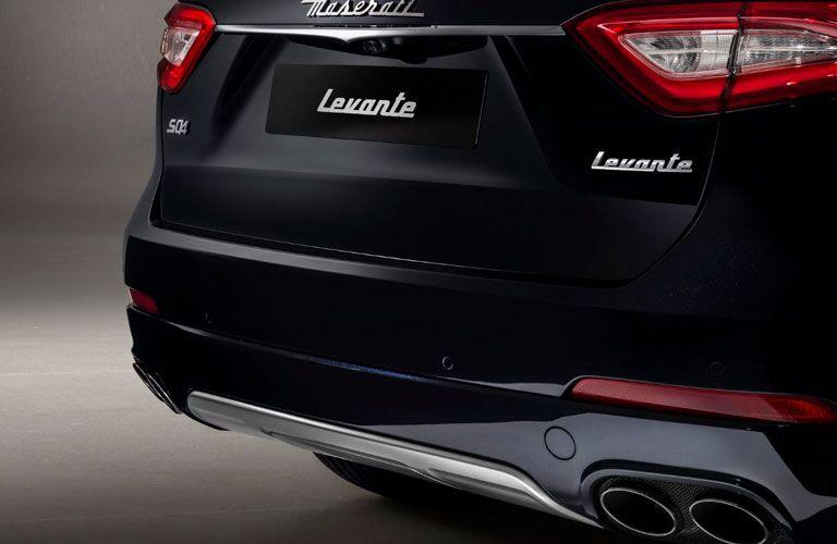 2020 Maserati Levante exterior back fascia close up of taillights