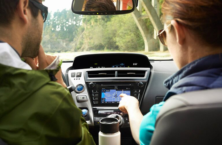 You can navigate with ease thanks to the Entune infotainment system inside the 2016 Toyota Prius v