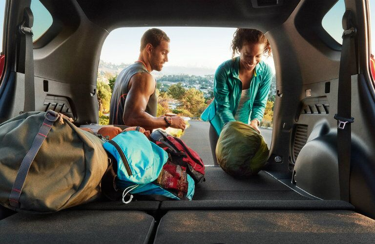 2016 Toyota RAV4 with gear in the cargo area