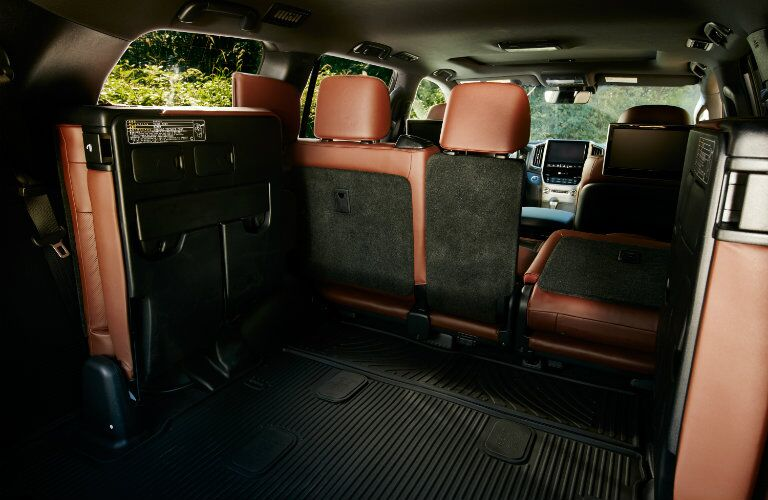 2016 Toyota Land Cruiser with back seats folded up