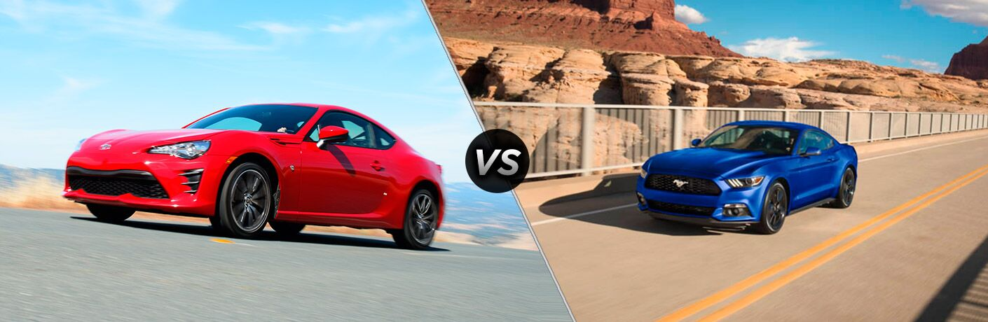 2017 Toyota 86 vs 2017 Ford Mustang