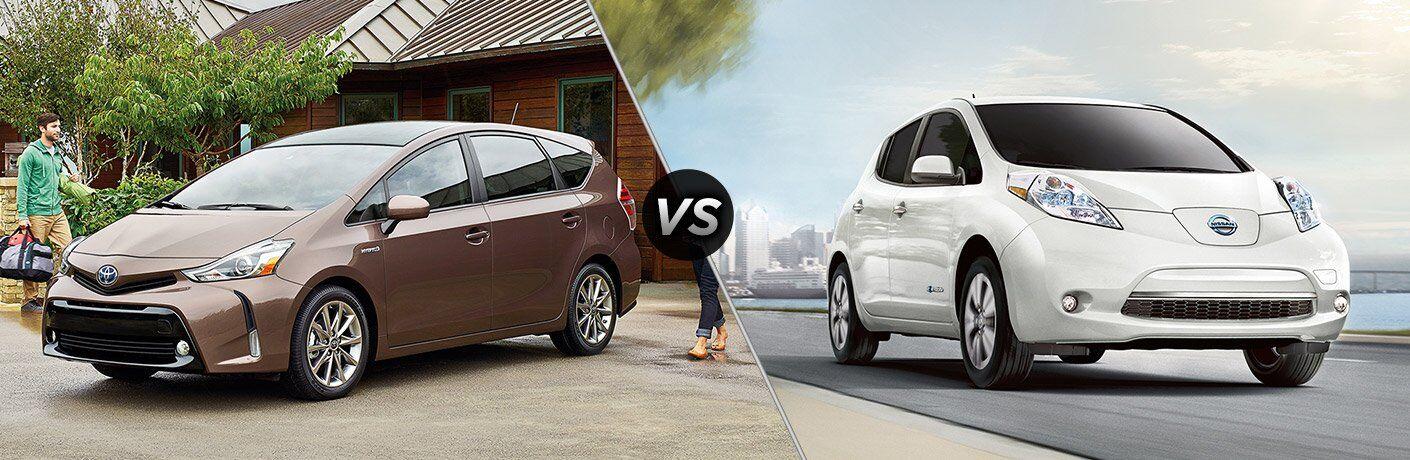 2017 Toyota Prius v vs 2017 Nissan Leaf