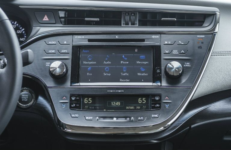 Entune infotainment system inside 2017 Toyota Avalon