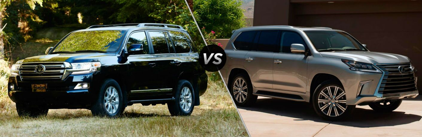2017 toyota land cruiser vs 2017 lexus lx 570. Black Bedroom Furniture Sets. Home Design Ideas