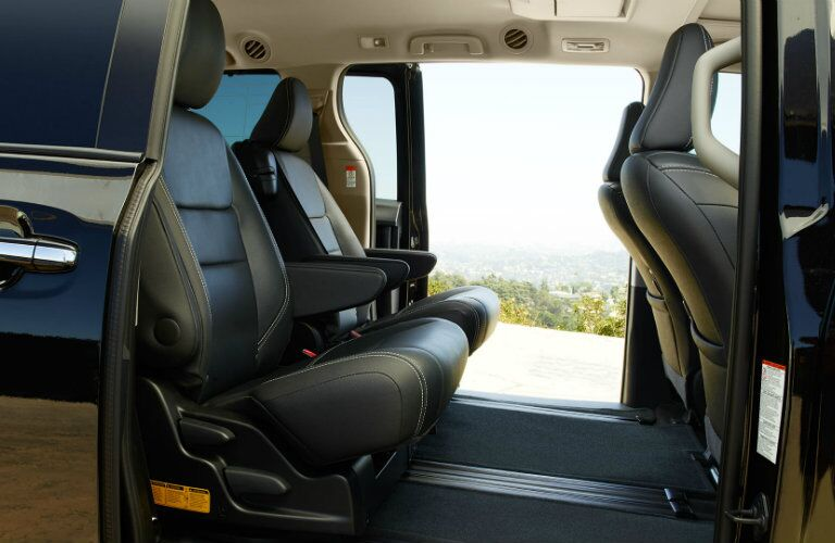 Second row of seats in 2017 Toyota Sienna