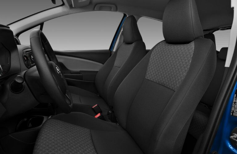 Front seats in 2017 Toyota Yaris