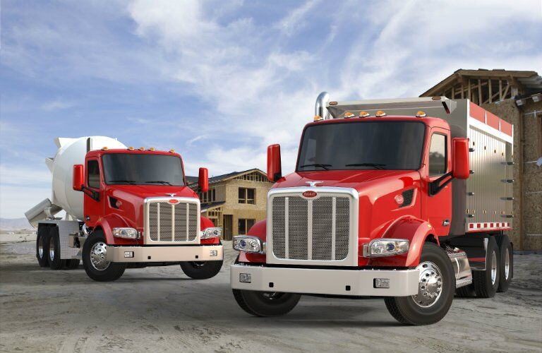 Peterbilt 567 models red front