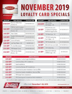 Loyalty Card Special - November 2019