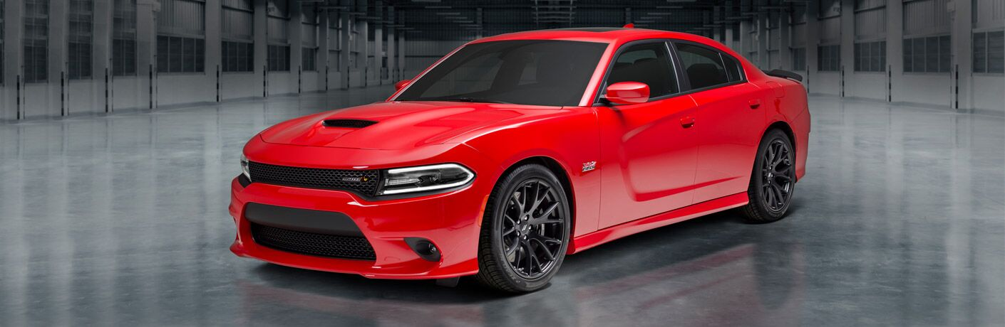 2018 Dodge Charger parked in warehouse