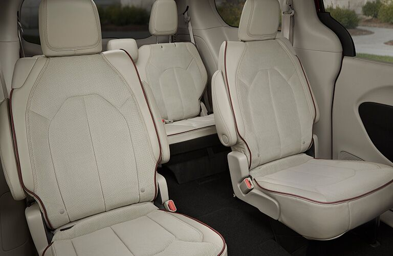Tan rear seats in 2019 Chrysler Pacifica